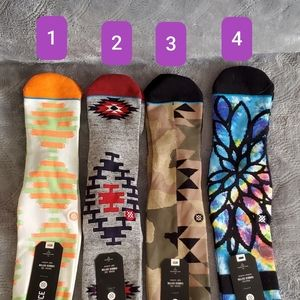 Stance Socks 4 pair bundle